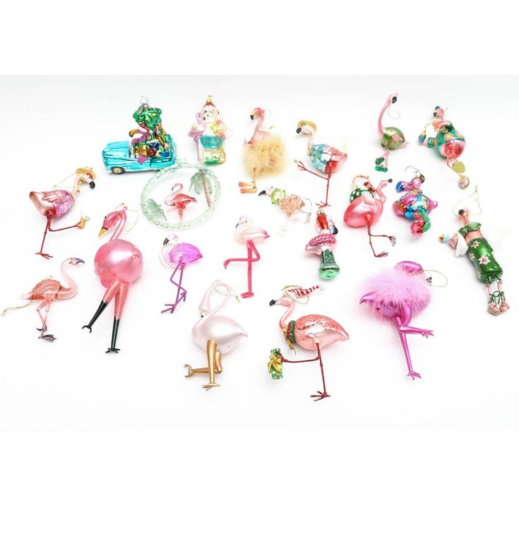 Flamingo Christmas Tree Decorations Uk : Collection of glass flamingo christmas tree ornaments ebth