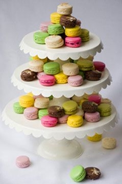 macarons & cake stands!  these are a few of my favorite things...