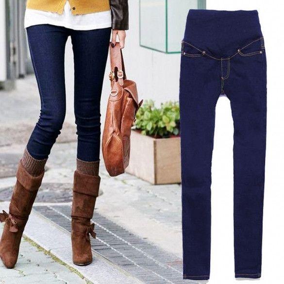 New Fashion Ladies Fashionable Skinny Maternity Jeans