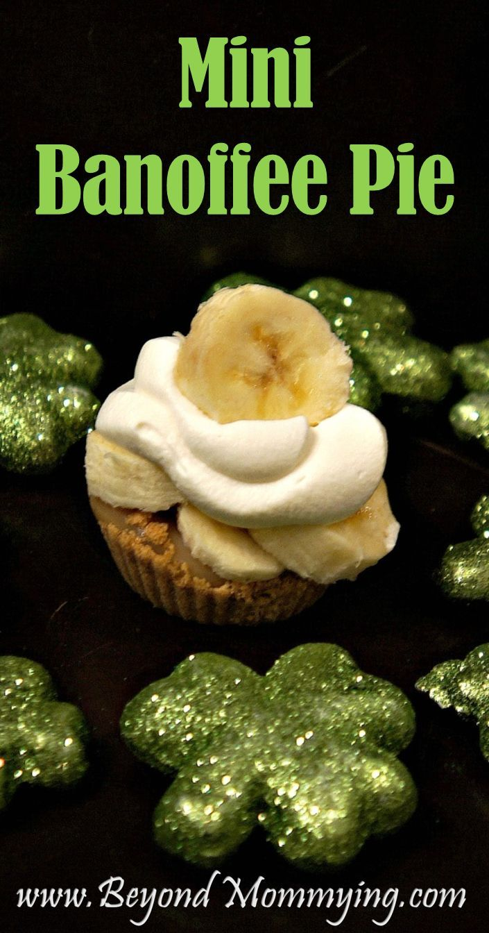 Recipe for Mini Banoffee Pie www.beyondmommying.com/blog/