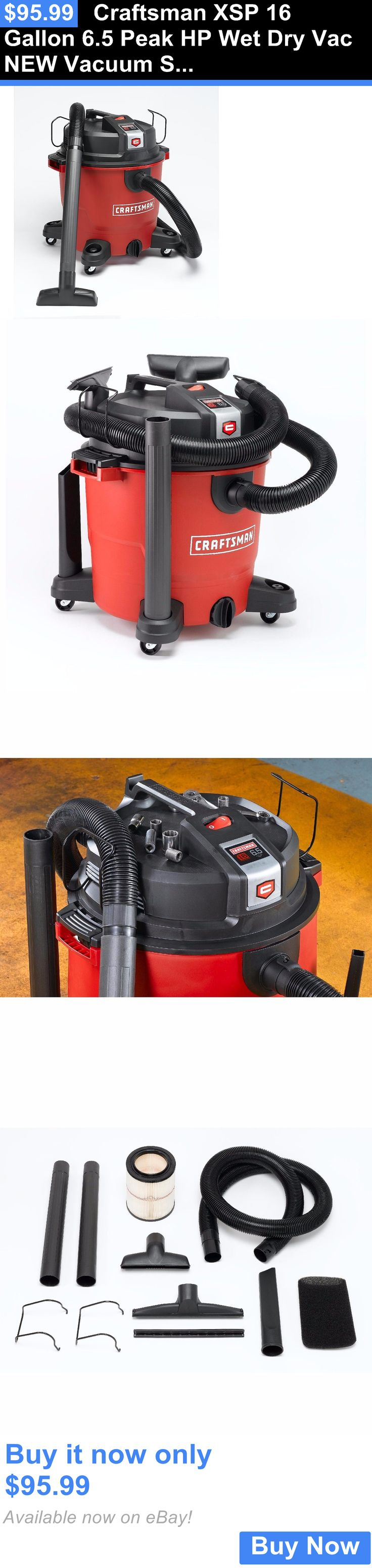 household items: Craftsman Xsp 16 Gallon 6.5 Peak Hp Wet Dry Vac New Vacuum Shop Cleaner BUY IT NOW ONLY: $95.99