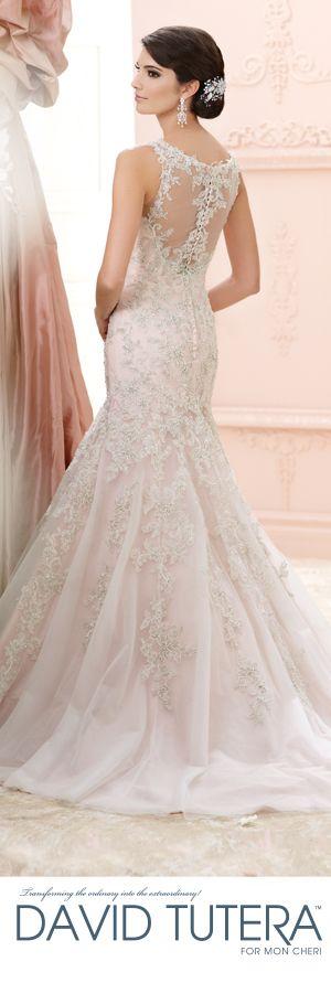 The David Tutera for Mon Cheri Fall 2015 Wedding Gown Collection - Style No. 215275 Jenny    davidtuteraformoncheri.com  #laceweddingdresses