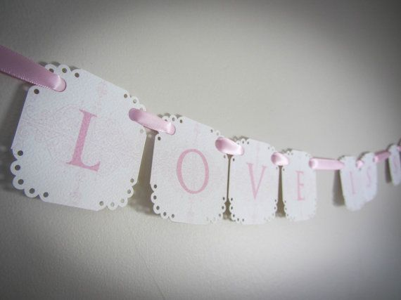 Love is Sweet Mini Banner for Candy Buffet... by CreativePapier, $16.00
