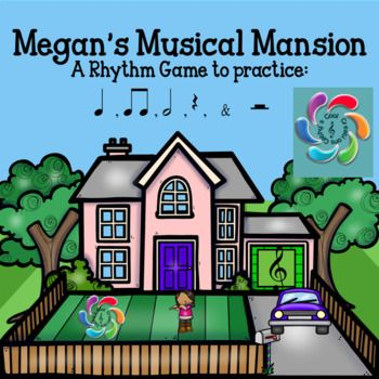 This virtual dollhouse is a rhythm game to help students practice music rhythms and provide teachers an opportunity to assess students in the process.  These rhythms include patterns using quarter notes, half notes, double eighth notes, quarter rests and half rests.