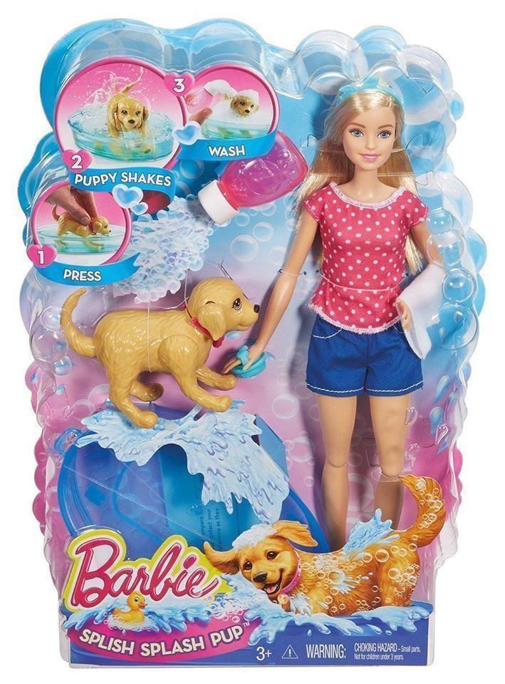 Barbie Doll Splish Splash Pup Washing Puppy Playset Play Set NEW IN BOX