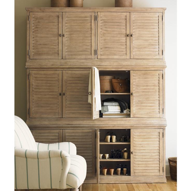Lexington Furniture Palo Alto Louvered Door Stackable Cabinet In Cambria