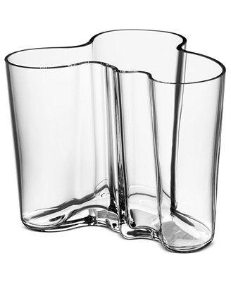 Iittala Vase, Clear Aalto Medium