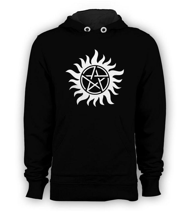 Supernatural Tattoo TV Series Sam Dean Castiel Pullover Hoodie Men Sweatshirts #Hanes #Hoodie