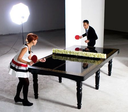Ping Pong Dining Table (Official Size) After Dinner Balls, Anyone?