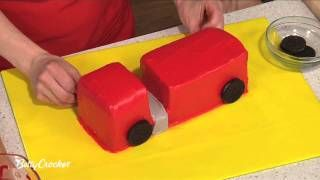 How To Make a Fire Truck Birthday Cake with Betty Crocker, via YouTube.