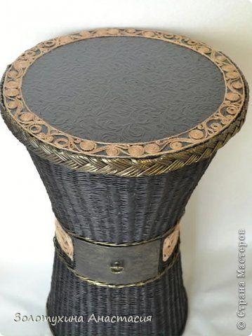 Поделка изделие Плетение Кофейный столик - подарок на новоселье  Бумага газетная Картон Шпагат фото 2