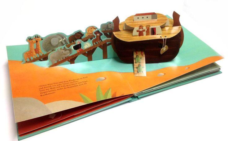 Pop up-Buch: Die Arche Noah - wunderschöne PopUp-Effekte, Klappen u. Ziehlaschen 3629141102   eBay