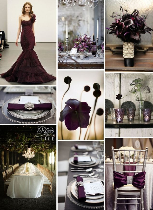 aubergine wedding