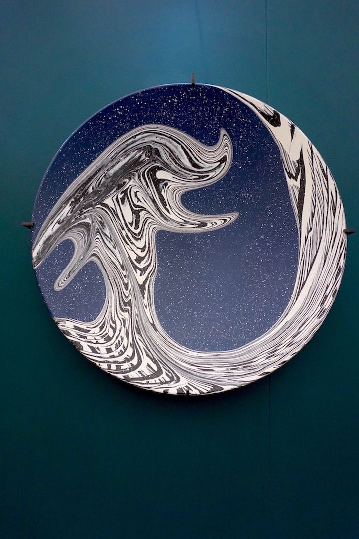 A beautiful marbled plate from Silo Studio - one of our favourites from the Future Heritage stand
