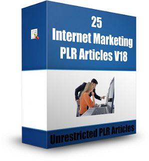 25 Internet Marketing PLR Articles