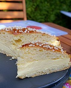 Tarte tropezienne!! I've been looking for this. St. Tropez tart!