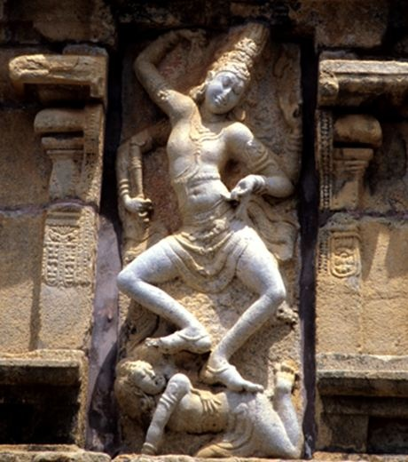 Shiva dances on the demon of ignorance at Mooverkoil, Kodambulur, early Chola Temple