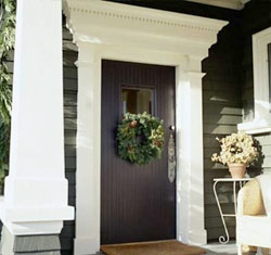 Superb I Love The Grandeur Of This Front Door. Rich Color, Bold Contrasting  Surround.