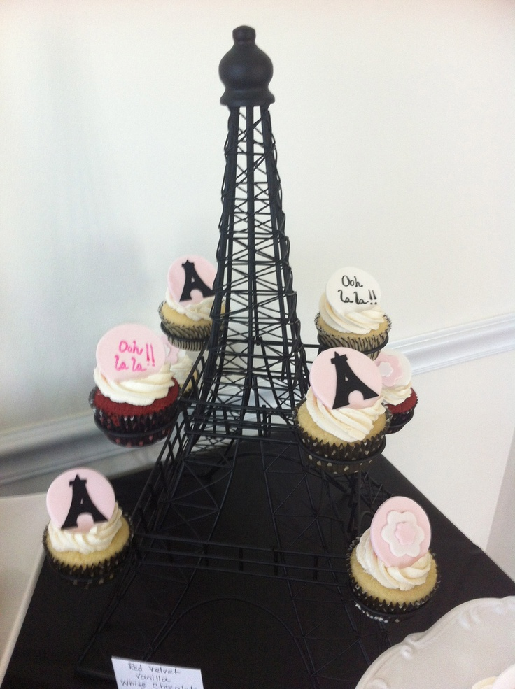 Use Eiffel Tower Candle Holder From Pier 1 As A Cupcake