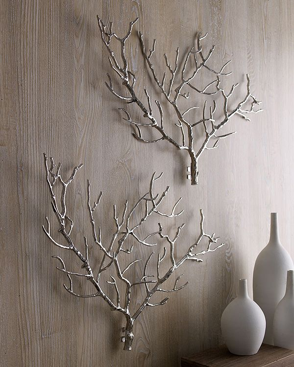 Branch Out! Decorating with Branches • Lots of Ideas & Tutorials! Including DIY'ing this metal art  (from neiman marcus) with real branches!
