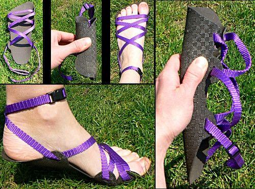 Barefoot sandály - 2 mm - pásek kolem kotníku