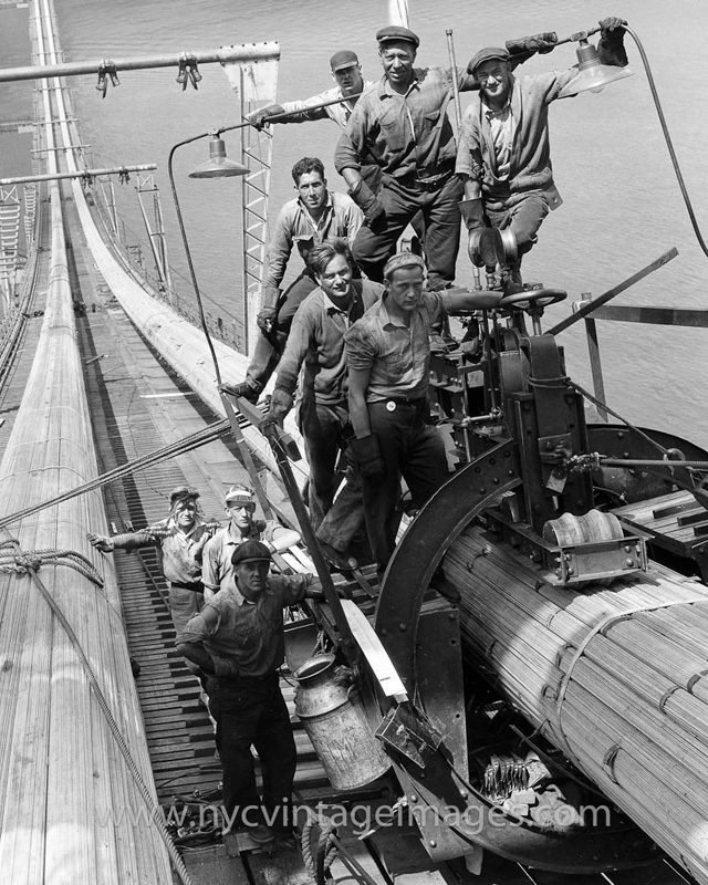 George Washington Bridge construction workers, 1930. New York
