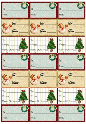 """Para Imprimir: Etiquetas para presentes de Natal (""""de"""" e """"para"""")"""