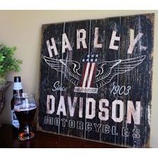 Harley-Davidson No.1 Since 1903 Wood Sign
