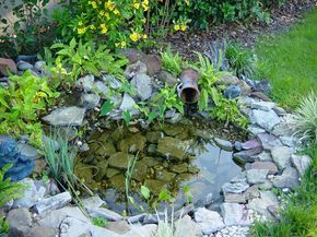 Small Water Features and Ponds   small water feature built on patio