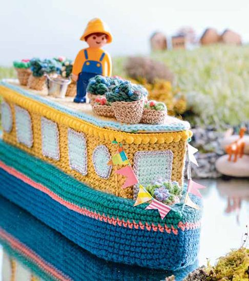 Lets Go Camping Crochet Patterns - Boat Flowers