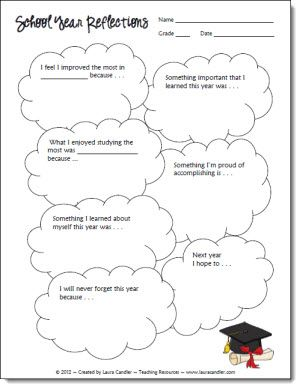 School Year Reflections freebie from Laura Candler