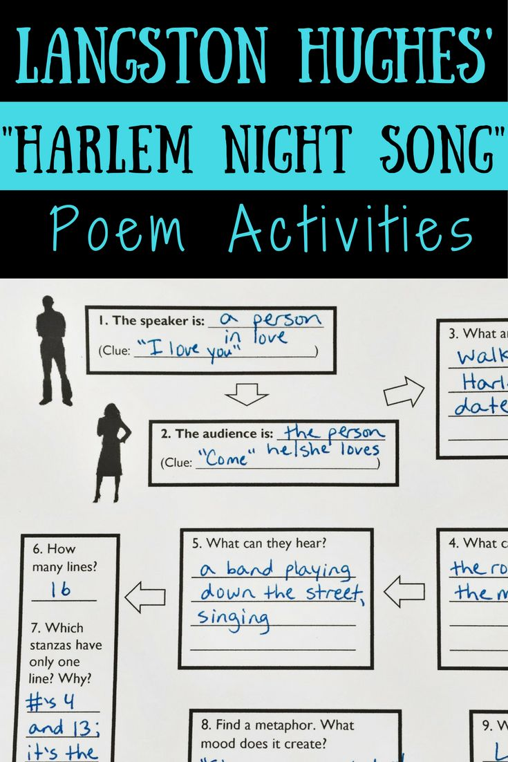 figurative language in harlem by langston hughes Langston hughes lesson plans and worksheets from  harlem, by langston hughes and talk about the  ninth graders identify figurative language in poetry and.