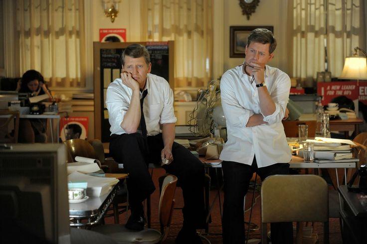 With Greg Kinnear (JFK) in The Kennedys
