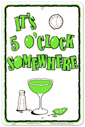 Cocktail Hour Tin Sign at AllPosters.com