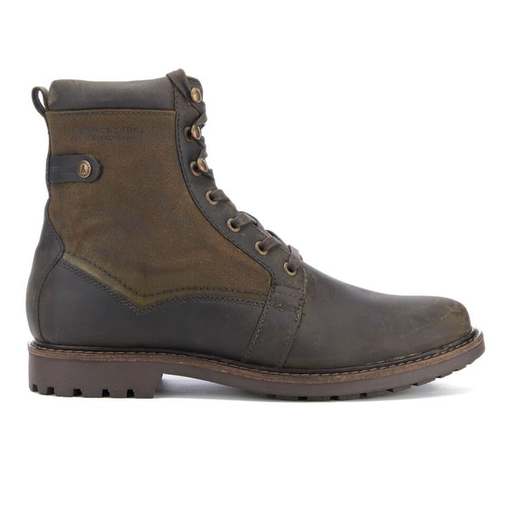 Barbour Men's Cleasby Leather/Waterproof High Derby Boots - Olive