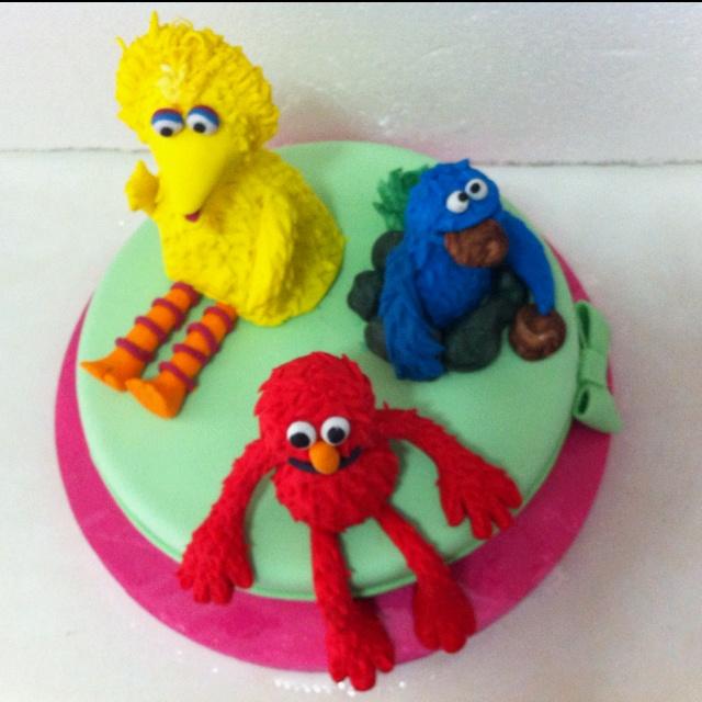 Sesame Street #cake ; #torta Plaza Sésamo por @acuariana7
