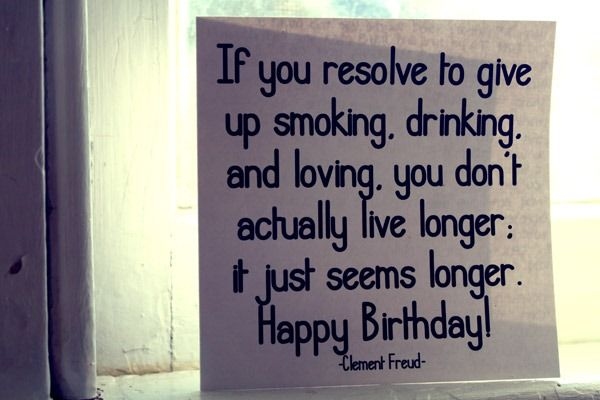 Remind me to write this in people's birthday cards! hahaha