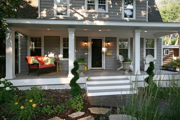 Front porch designs minneapolis front yard landscape for Small front porch landscaping ideas