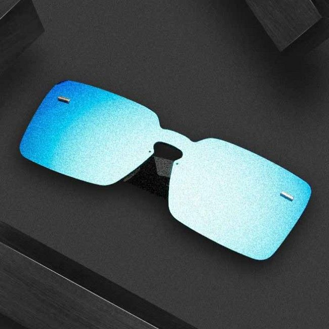 One piece lens modern look sunglasses squared-off frame #sunglasses #blue #aviators