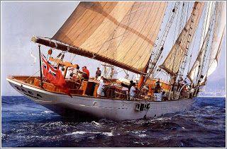 La Zaca in mare, una fantastica barca a vela... Carlo's Lifestyle