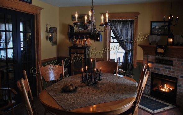 Primitive decorating ideas primitive colonial inspired for Primitive dining room ideas