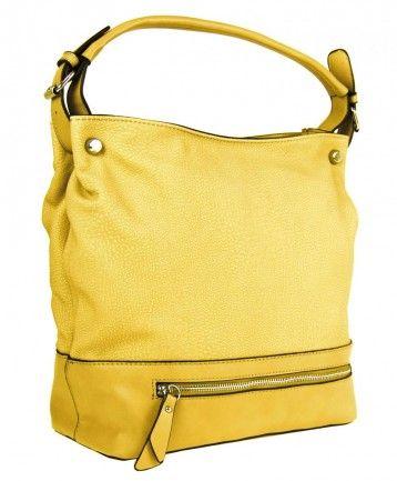Velká kabelka na rameno TH2032 žlutá - Kliknutím zobrazíte detail obrázku.