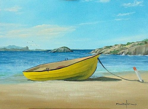 How to paint a boat on the beach