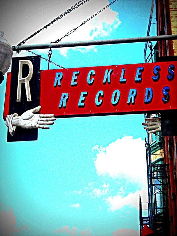 Chicago Photography RECKLESS RECORDS indie record by helenesmith, $30.00