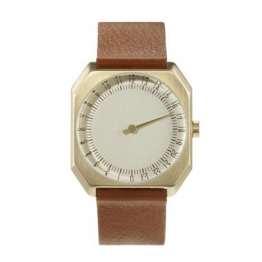 Brown Leather, Gold Case, Gold Dial