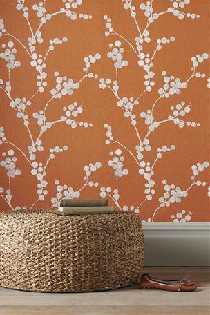 Buy Elissa Orange Wallpaper from the Next UK online shop
