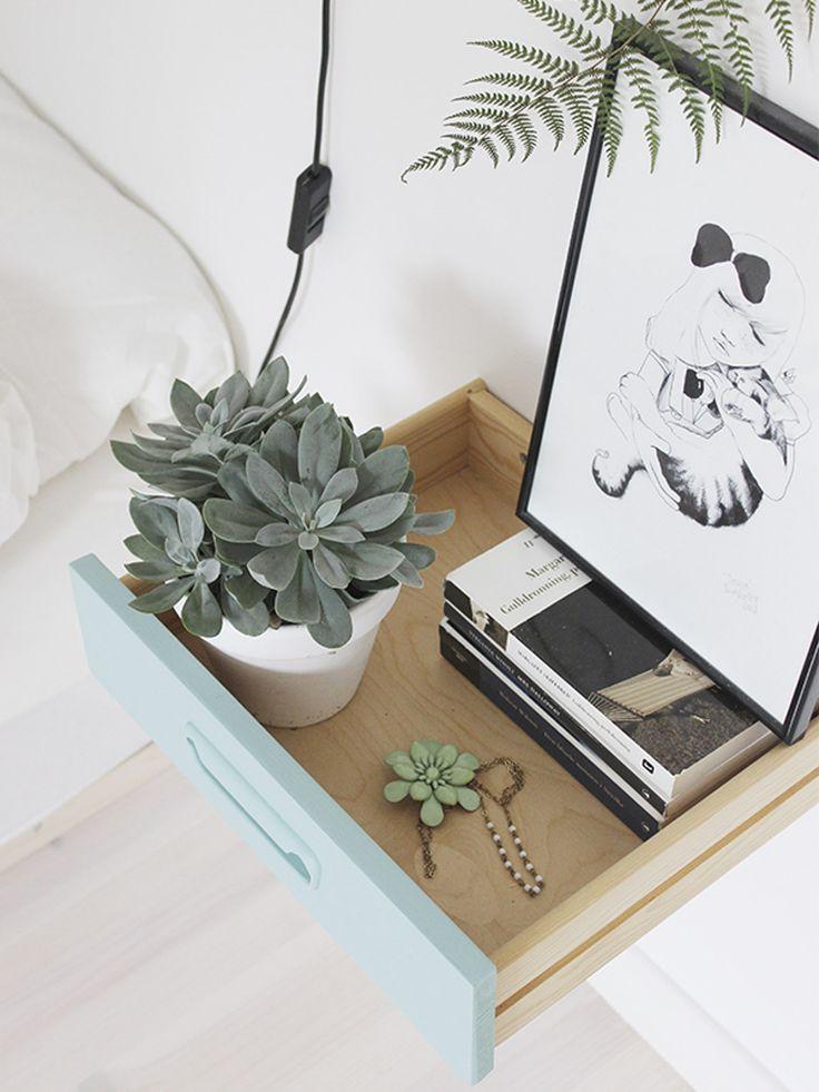 Smart og svevende nattbord