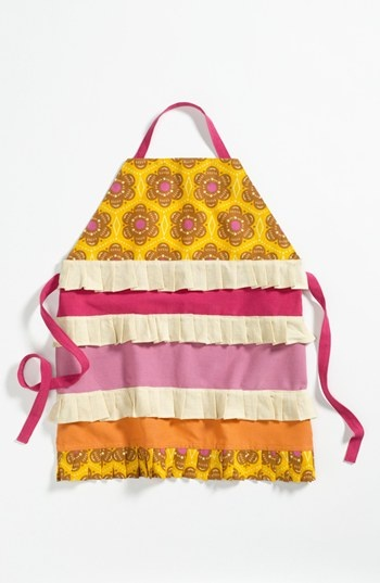 Vintage, ruffle apron. Great bridal shower gift.