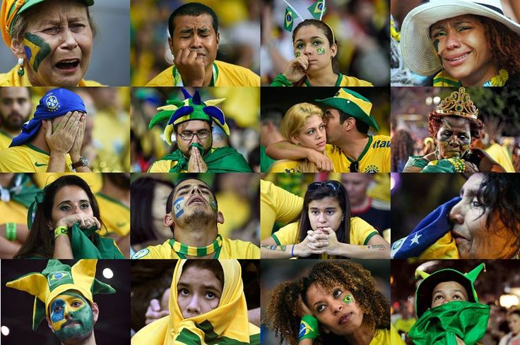 Brazilian football fans' hopes for a home triumph were brutally shattered by Germany.. The collective sense of shock, embarrassment and national humiliation