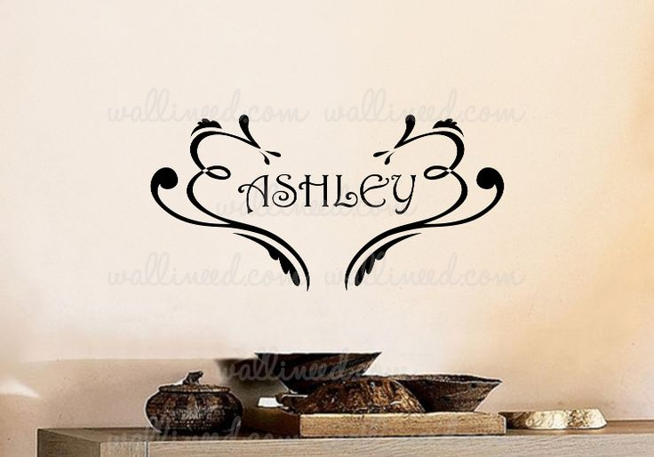 Custom Name Floral Wall Decal